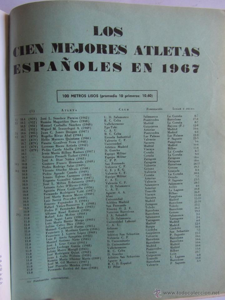 Coleccionismo deportivo: Atletismo Español Numero 155 (Marzo 1968) Inluye separata 44 pags con listado de los mejores atletas - Foto 4 - 54486461