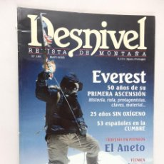 Coleccionismo deportivo: REVISTA DE MONTAÑA DESNIVEL Nº 198 MAYO 2003. Lote 54507833