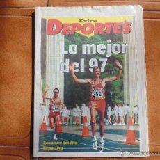 Coleccionismo deportivo: DIARIO EXTRA DEPORTES AÑO 1997 -PORTADA -LO MEJOR DEL 97-RESUNEN DEL AÑO. Lote 54720300
