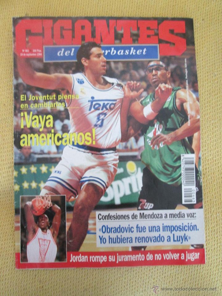 GIGANTES DEL BASKET. NO.463 - SEPTIEMBRE - 1994 (Coleccionismo Deportivo - Revistas y Periódicos - otros Deportes)