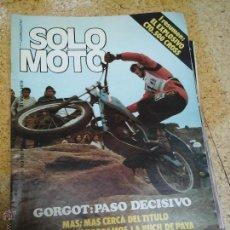 Coleccionismo deportivo: SOLO MOTO MAYO 1979. Lote 50785337