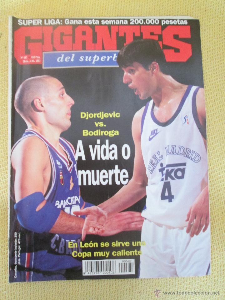 GIGANTES DEL BASKET. NO.587 - FEBRERO - 1997 (Coleccionismo Deportivo - Revistas y Periódicos - otros Deportes)