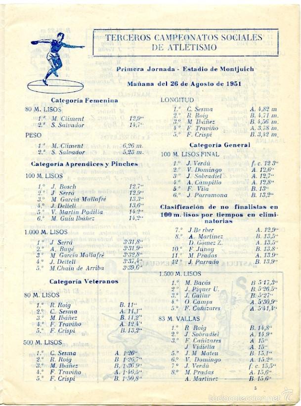 Coleccionismo deportivo: 2 boletines deportivos de La Maquinista, oct y nov 1951. Fútbol, Rugby, atletismo, ajedrez.. - Foto 2 - 55790972
