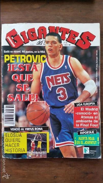 GIGANTES DEL BASKET N°379.AÑO 1993.DRAZEN PETROVIC 44 PUNTOS RECORD (Coleccionismo Deportivo - Revistas y Periódicos - otros Deportes)