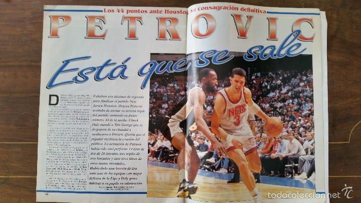 Coleccionismo deportivo: GIGANTES DEL BASKET N°379.AÑO 1993.DRAZEN PETROVIC 44 PUNTOS RECORD - Foto 2 - 56182936