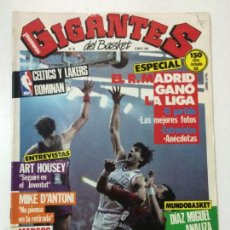 Coleccionismo deportivo: REVISTA GIGANTES DEL BASKET, NUMERO 28, 19 MAYO 1986, REAL MADRID CAMPEON LIGA VS. BARÇA, POSTER EPI. Lote 56296364