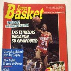 Coleccionismo deportivo: REVISTA SUPER BASKET , NUMERO 6, 15 NOVIEMBRE 1989, POSTER AKEEM OLAJUWON NBA.. Lote 56299691