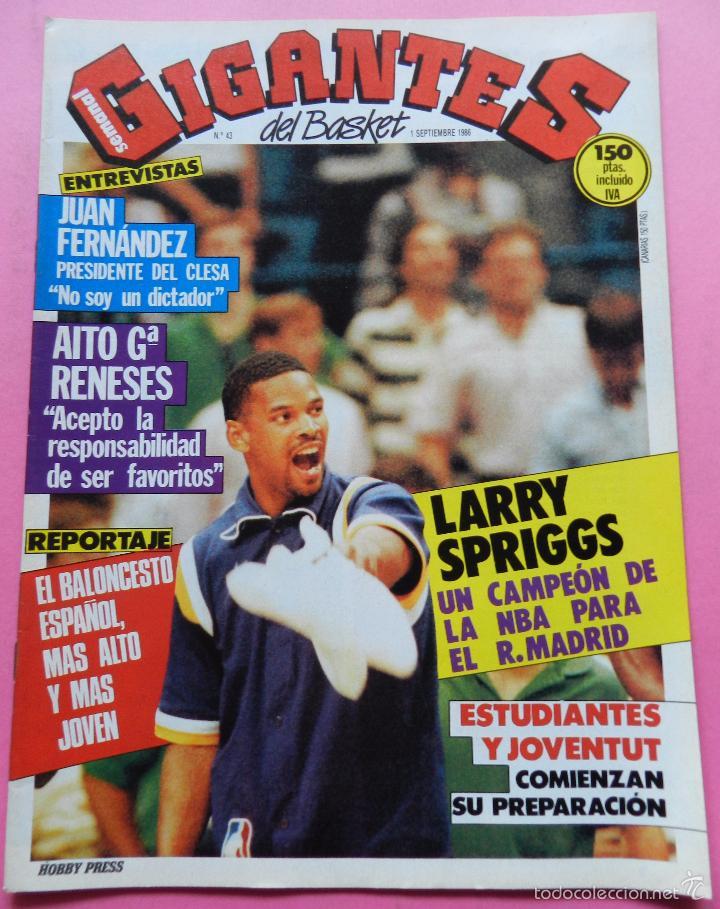 REVISTA GIGANTES DEL BASKET Nº 43 1986 POSTER USA MUNDOBASKET 86-LARRY SPRIGGS-PENYA JULBE-AITO (Coleccionismo Deportivo - Revistas y Periódicos - otros Deportes)