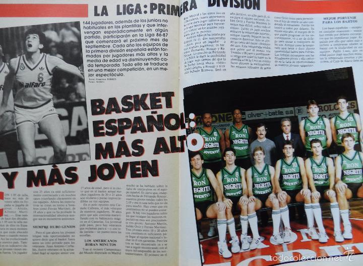 Coleccionismo deportivo: REVISTA GIGANTES DEL BASKET Nº 43 1986 POSTER USA MUNDOBASKET 86-LARRY SPRIGGS-PENYA JULBE-AITO - Foto 7 - 56348230