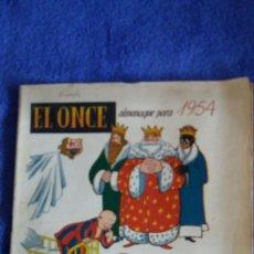 Coleccionismo deportivo: EL ONCE / ALMANAQUE PARA 1954. Lote 56376967