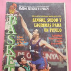 Coleccionismo deportivo: REVISTA NUEVO BASKET Nº 156 1987 MAXI POSTER PETROVIC-MCADOO-EPI-BARCELONA CAMPEON LIGA 86/86 NB. Lote 56381566