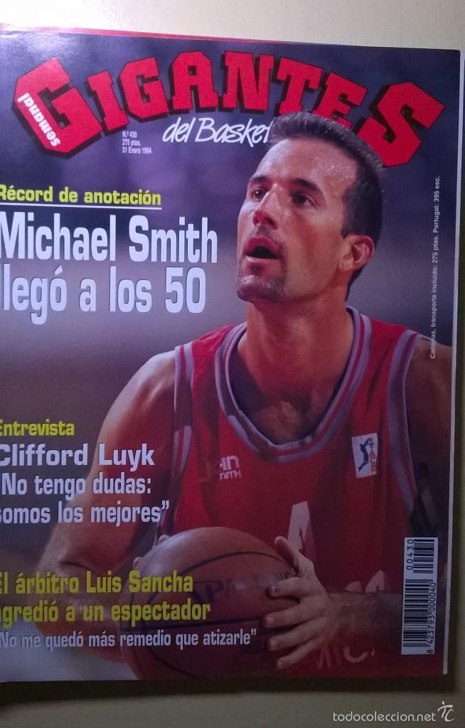 REVISTA BALONCESTO GIGANTES BASKET 430 MICHAEL SMITH 50 PUNTOS (Coleccionismo Deportivo - Revistas y Periódicos - otros Deportes)