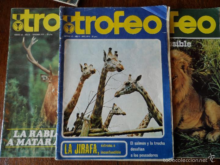 Coleccionismo deportivo: INTERESANTE LOTE DE 8 REVISTAS VINTAGE DE CAZA -TROFEO- - Foto 10 - 56714978
