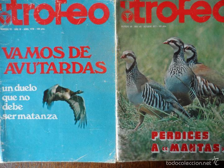 Coleccionismo deportivo: INTERESANTE LOTE DE 8 REVISTAS VINTAGE DE CAZA -TROFEO- - Foto 11 - 56714978