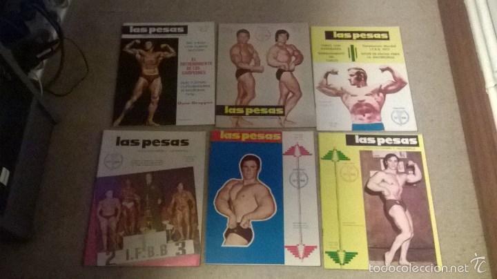 REVISTAS LAS PESAS AÑOS 70 - LOTE 6 REVISTAS (Coleccionismo Deportivo - Revistas y Periódicos - otros Deportes)