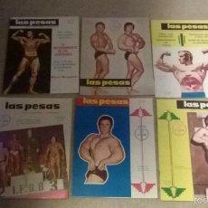 Coleccionismo deportivo: REVISTAS LAS PESAS AÑOS 70 - LOTE 6 REVISTAS. Lote 56905467