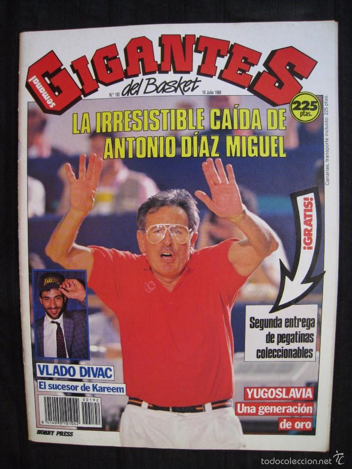 GIGANTES DEL BASKET - Nº 192 - CON POSTER DE VLADO DIVAC ( YUGOSLAVIA ). (Coleccionismo Deportivo - Revistas y Periódicos - otros Deportes)