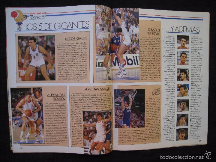 Coleccionismo deportivo: GIGANTES DEL BASKET - Nº 192 - CON POSTER DE VLADO DIVAC ( YUGOSLAVIA ). - Foto 4 - 57328961