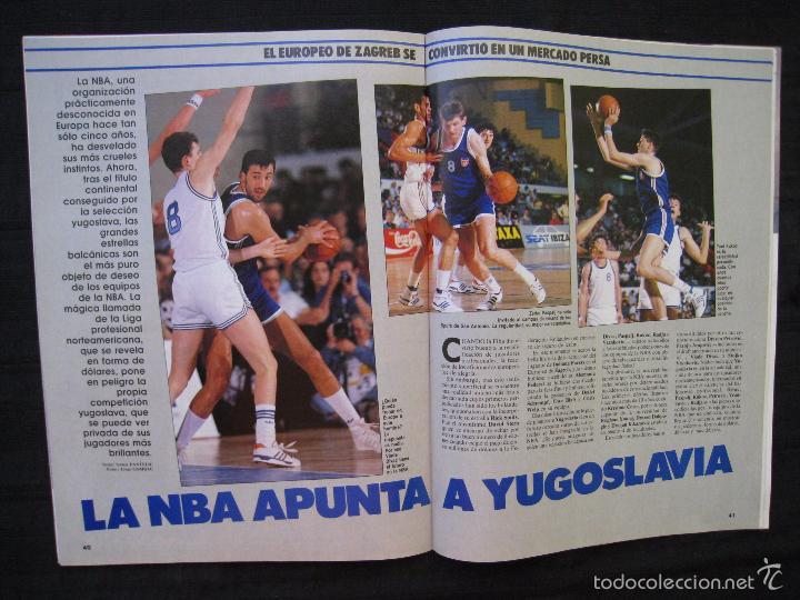 Coleccionismo deportivo: GIGANTES DEL BASKET - Nº 192 - CON POSTER DE VLADO DIVAC ( YUGOSLAVIA ). - Foto 8 - 57328961