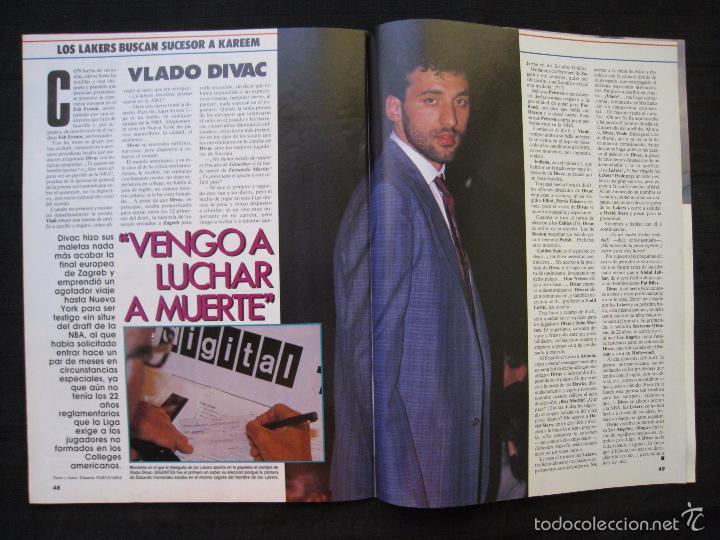 Coleccionismo deportivo: GIGANTES DEL BASKET - Nº 192 - CON POSTER DE VLADO DIVAC ( YUGOSLAVIA ). - Foto 10 - 57328961