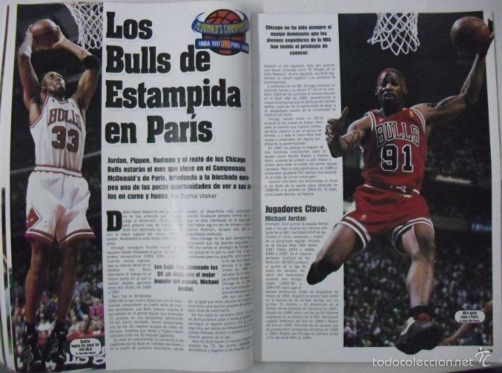 Coleccionismo deportivo: Michael Jordan & Scottie Pippen - Revista XXL Basket - Open McDonalds 1997 - Foto 3 - 53834228