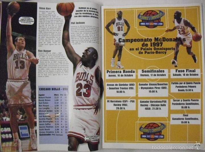 Coleccionismo deportivo: Michael Jordan & Scottie Pippen - Revista XXL Basket - Open McDonalds 1997 - Foto 4 - 53834228