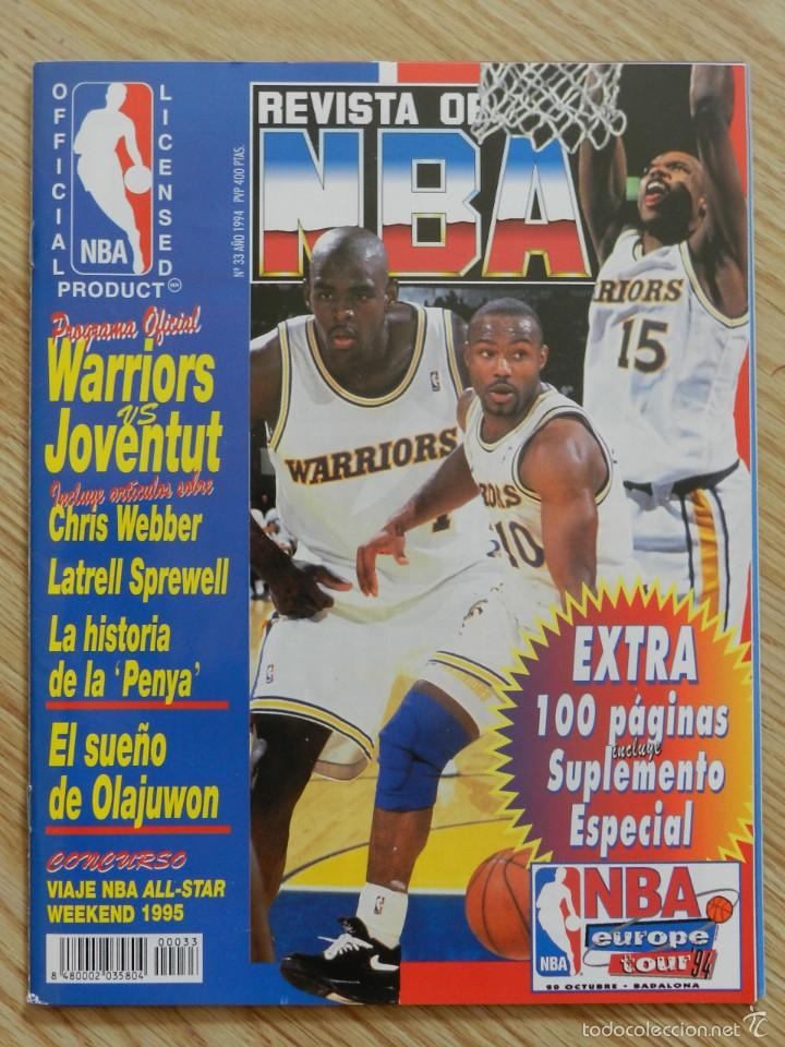 REVISTA OFICIAL NBA Nº 33 AÑO 1994 BALONCESTO BASKET EUROPE TOUR 94 OLAJUWON EXTRA SUPLEMENTO Nº33 (Coleccionismo Deportivo - Revistas y Periódicos - otros Deportes)