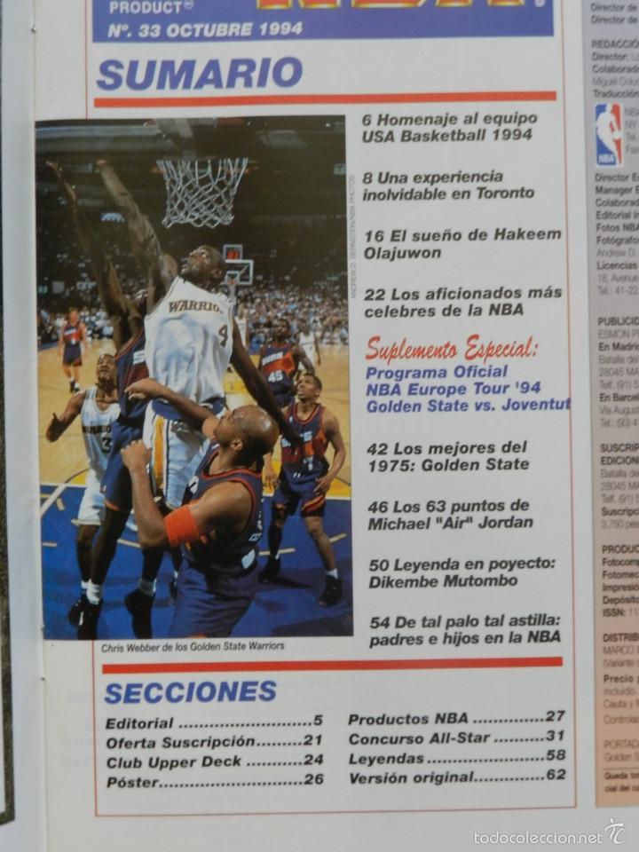 Coleccionismo deportivo: REVISTA OFICIAL NBA Nº 33 AÑO 1994 BALONCESTO BASKET Europe tour 94 Olajuwon EXTRA suplemento nº33 - Foto 3 - 57864623