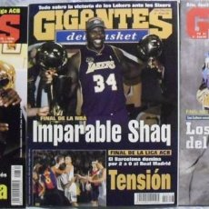 Coleccionismo deportivo: KOBE BRYANT & SHAQUILLE O'NEAL - REVISTAS ''GIGANTES DEL BASKET'' (THREEPEAT 2000-02) - LAKERS / NBA. Lote 57941703