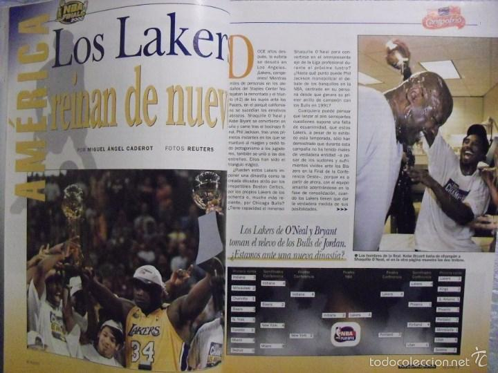 Coleccionismo deportivo: Kobe Bryant & Shaquille ONeal - Revistas Gigantes del Basket (Threepeat 2000-02) - Lakers / NBA - Foto 2 - 57941703