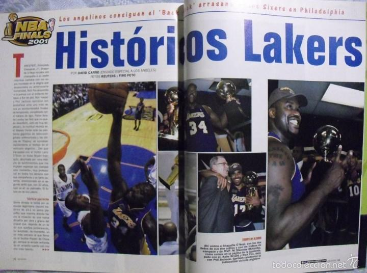 Coleccionismo deportivo: Kobe Bryant & Shaquille ONeal - Revistas Gigantes del Basket (Threepeat 2000-02) - Lakers / NBA - Foto 3 - 57941703