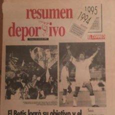 Coleccionismo deportivo: RESUMEN DEPORTIVO EL CORREO 1994 - 1995. Lote 58113388