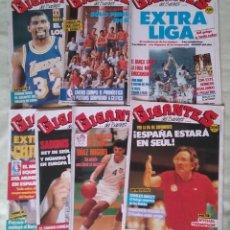 Coleccionismo deportivo: REVISTA GIGANTES DEL BASKET. LOTE DE 7 NUMEROS. AÑO 1988. CON POSTERS.. Lote 133576559