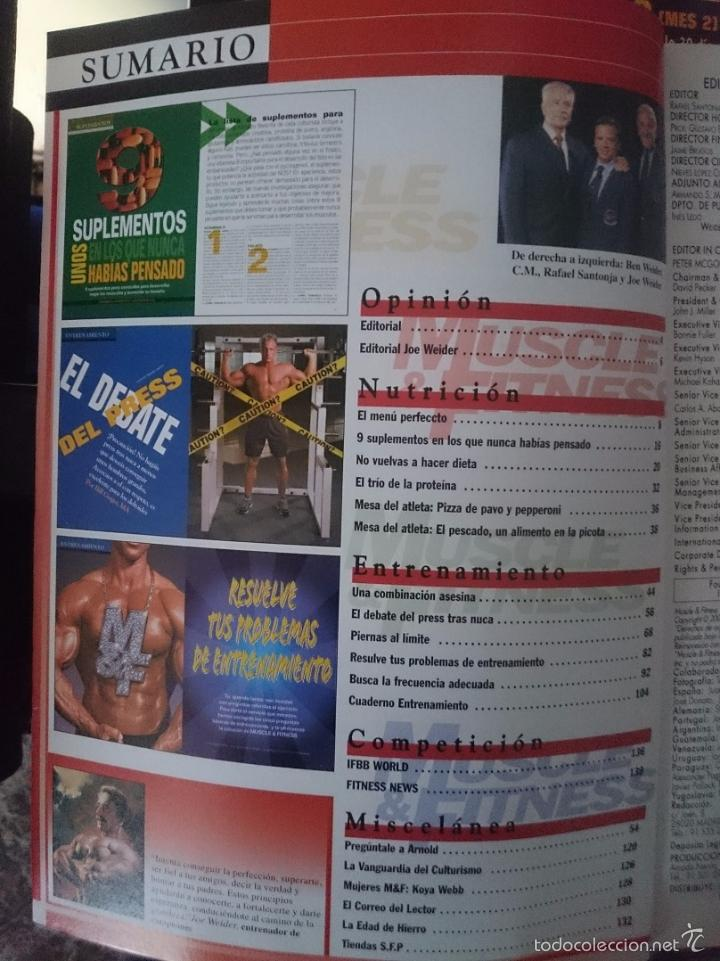 Coleccionismo deportivo: MUSCLE AND FITNESS - JOE WEIDER´S - N 286 -VER FOTOS --RefM1E5 - Foto 2 - 58416045