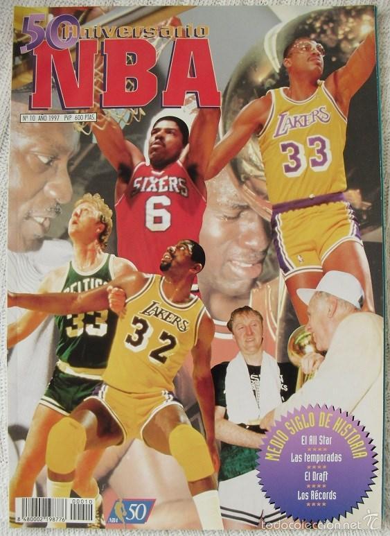 63e7ed29fe5 Michael Jordan -   Revista Oficial de la NBA   - Especial 50 aniversario NBA  (1946-1996)