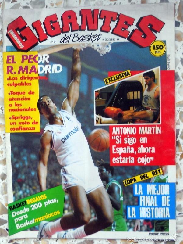 GIGANTES DEL BASKET Nº60 DICIEMBRE 1986 BALONCESTO VINTAGE ANTONIO MARTIN FINAL COPA (Coleccionismo Deportivo - Revistas y Periódicos - otros Deportes)