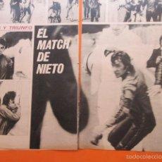Coleccionismo deportivo: ARTICULO 1972 - ANGEL NIETO PELEA CON HUBERTS IMOLA - NOU CAMP FINAL GLASGOW DYNAMO ASOLAN CAMPO. Lote 59633399