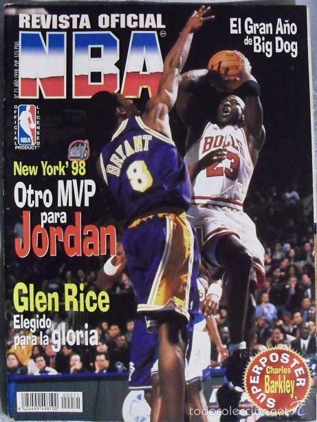 MICHAEL JORDAN & KOBE BRYANT - ''REVISTA OFICIAL DE LA NBA'' Nº 71 - ALL-STAR DE 1998 (Coleccionismo Deportivo - Revistas y Periódicos - otros Deportes)