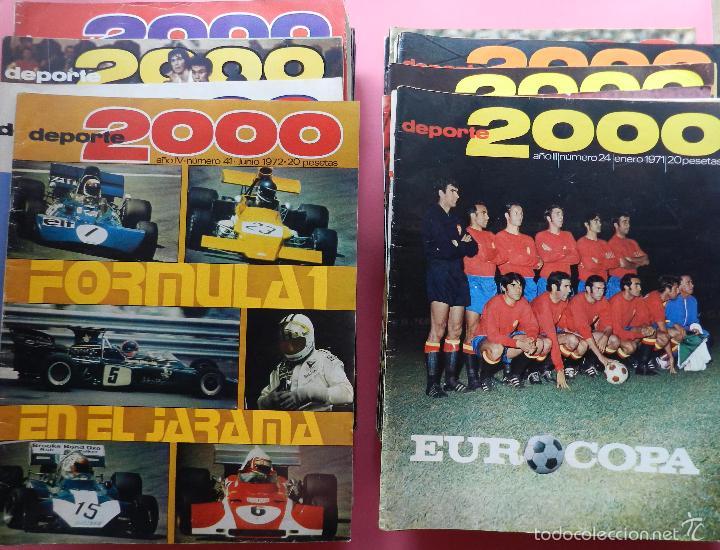 LOTE 26 REVISTA DEPORTE 2000 Nº 24-26-28-29-30-31-33-34-35-36-37-38-41-42-46-47-48-49-51-52-53-54-55 (Coleccionismo Deportivo - Revistas y Periódicos - otros Deportes)