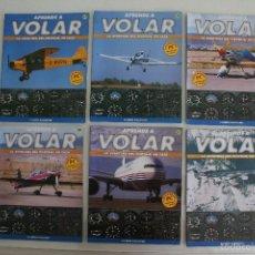 Coleccionismo deportivo: FASCICULOS APRENDE A VOLAR - LA AVENTURA DEL PILOTAJE EN CASA - AVIONETA AVION PILOTO. Lote 61317719