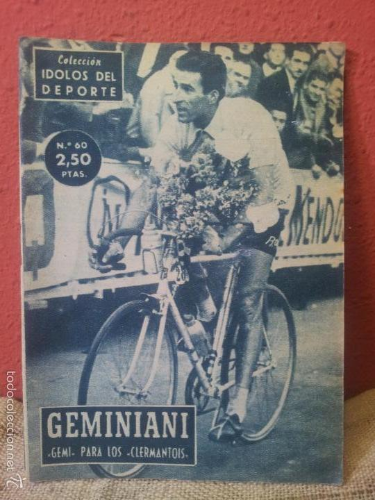 COLECCION IDOLOS DEL DEPORTE Nº 60 - GEMINIANI (Coleccionismo Deportivo - Revistas y Periódicos - otros Deportes)