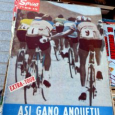 Coleccionismo deportivo: SPRINT Nº33 - EXTRA-TOUR - ASI GANÓ ANQUETIL - JULIO 1964, 24 PAGINAS. Lote 61373243