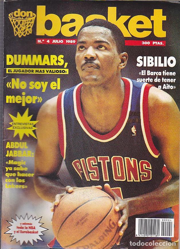 REVISTA DON BASKET Nº 4 JULIO 1989 (Coleccionismo Deportivo - Revistas y Periódicos - otros Deportes)