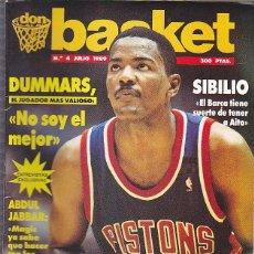 Coleccionismo deportivo: REVISTA DON BASKET Nº 4 JULIO 1989. Lote 61482231
