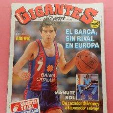Coleccionismo deportivo: REVISTA GIGANTES DEL BASKET Nº 167 1989 POSTER VLADO DIVAC YUGOSLAVIA-MANUTE BOL NBA-ITURRIAGA. Lote 61565700