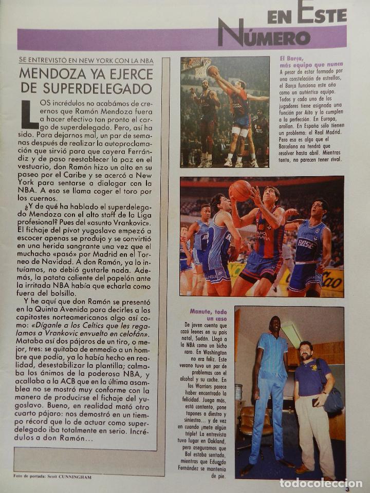 Coleccionismo deportivo: REVISTA GIGANTES DEL BASKET Nº 167 1989 POSTER VLADO DIVAC YUGOSLAVIA-MANUTE BOL NBA-ITURRIAGA - Foto 2 - 61565700