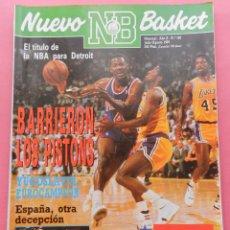 REVISTA NUEVO BASKET Nº 186 1989 DETROIT PISTONS CAMPEON ANILLO NBA-YUGOSLAVIA EUROBASKET 89