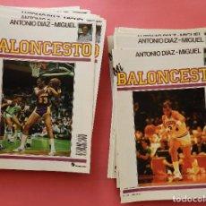 Coleccionismo deportivo: LOTE 37 FASCICULOS COLECCION MI BALONCESTO-ANTONIO DIAZ MIGUEL-INCLUYE POSTERS-BASKET-NBA-1985. Lote 61597804