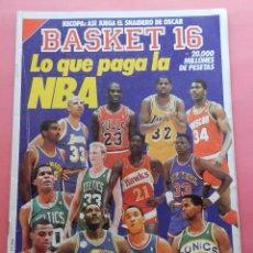Coleccionismo deportivo: REVISTA Nº 75 ESTRELLAS DEL BASKET 16 1989 NBA-OSCAR SNAIDERO-RICKIE WINSLOW-POSTER AGUIRRE PISTONS. Lote 61606228