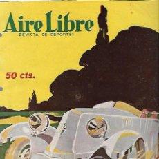 Coleccionismo deportivo: REVISTA DE DEPORTES. AIRE LIBRE. AÑO III. 27 ENERO 1925. Nº 59. CARRERAS DE AUTOMOVILES, RUGBY, MOTO. Lote 61735808